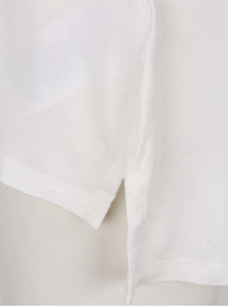 Krémové tričko s krátkým rukávem ONLY Prime