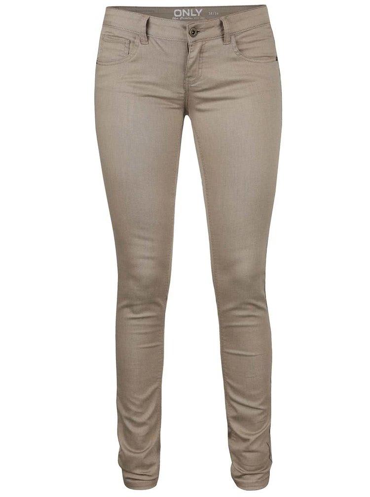 Pantaloni bej skinny ONLY Lucia