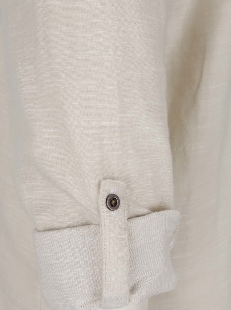 Béžová žíhaná košile ONLY Mahrakesh