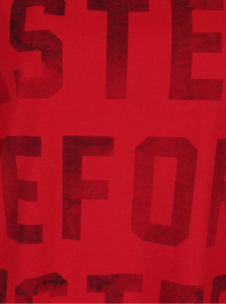 Tricou roșu cu imprimeu text ONLY Bad hair don´t care