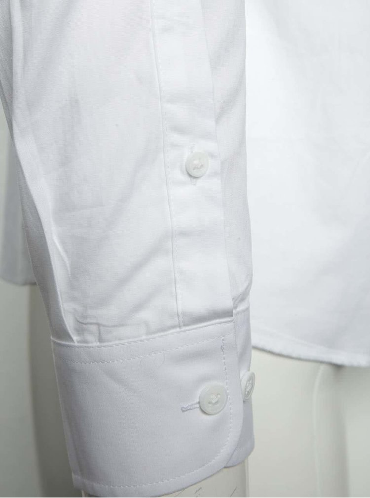 Camasa alba Selected Homme Negran Spain slim fit din bumbac