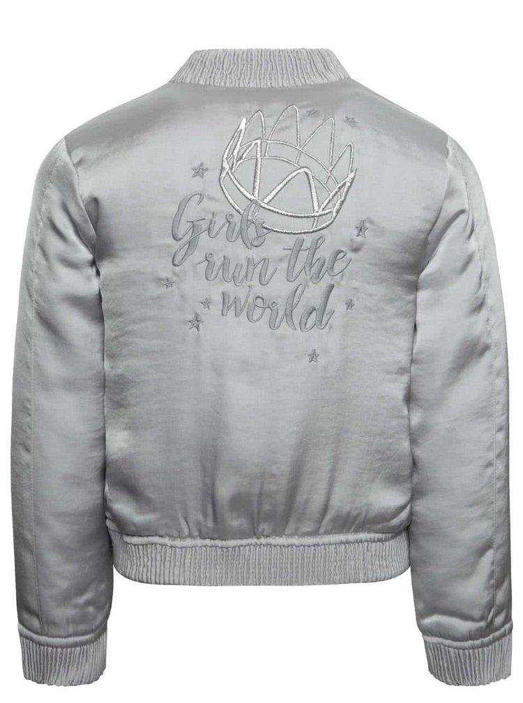 Jachetă bomber gri deschis Boboli pentru fete