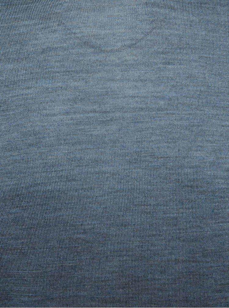 Modrý svetr z Merino vlny Selected Homme Tower