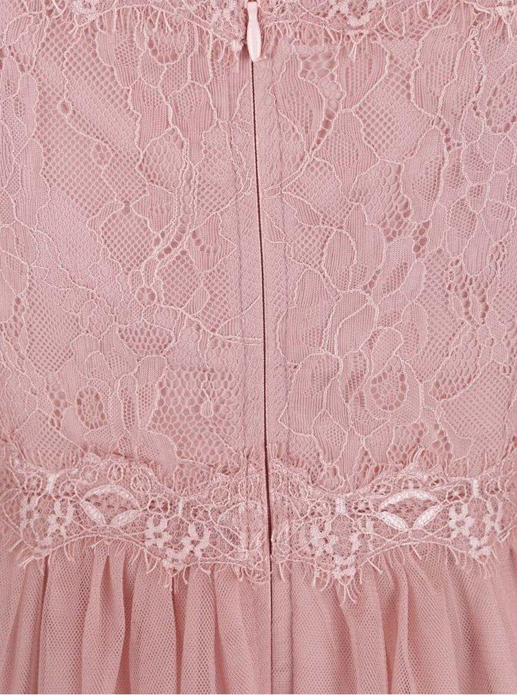 Rochie roz pal Little Misstres cu dantelă
