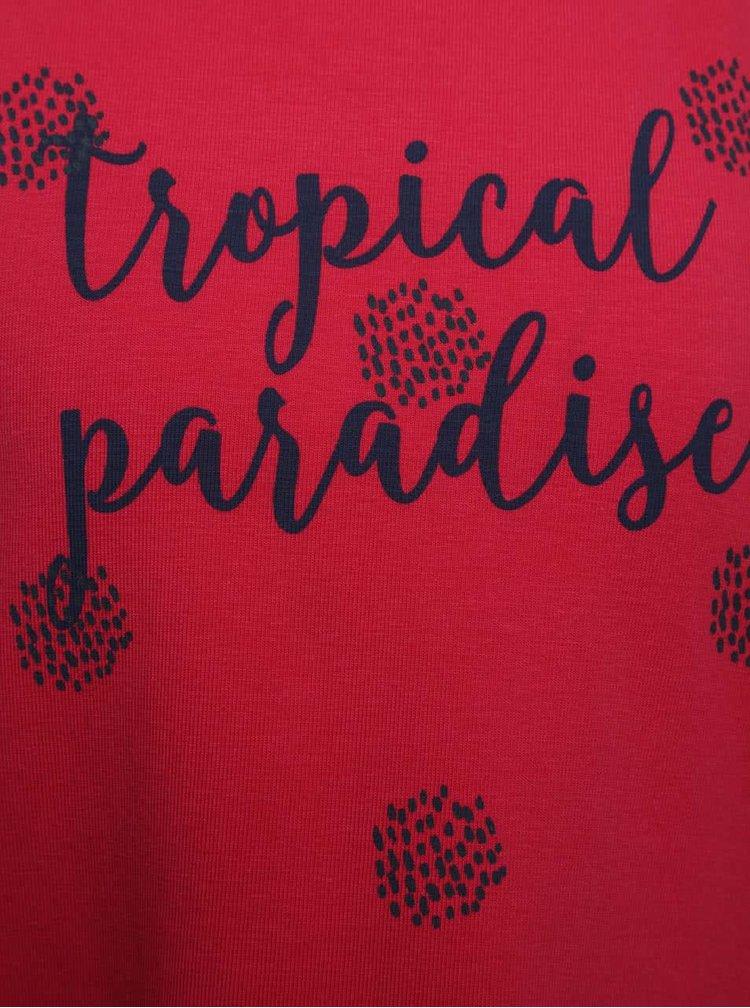 Rochie rosie Boboli cu print pentru fete