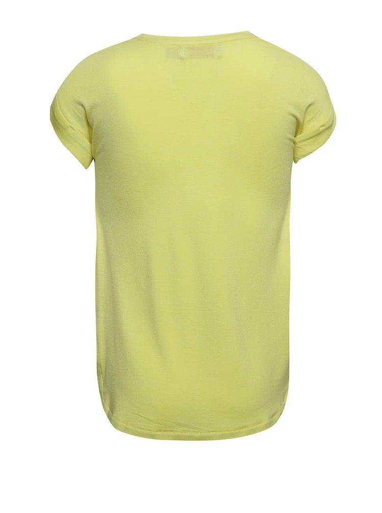 Tricou galben Boboli cu print pentru fete