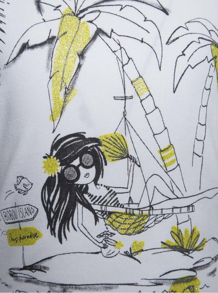 Bílé holčičí tričko krátkým rukávem Bóboli