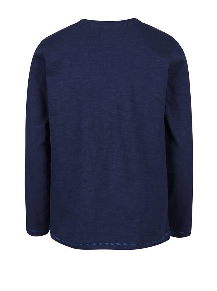 Tmavě modré klučičí triko s dlouhým rukávem Blue Seven