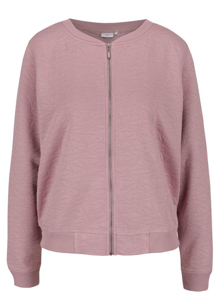 Jachetă bomber roz închis Jacqueline de Yong Case cu model discret