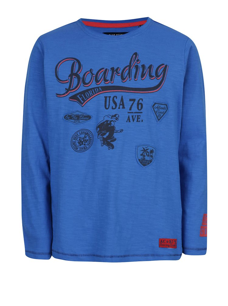 Modré klučičí triko s dlouhým rukávem Blue Seven