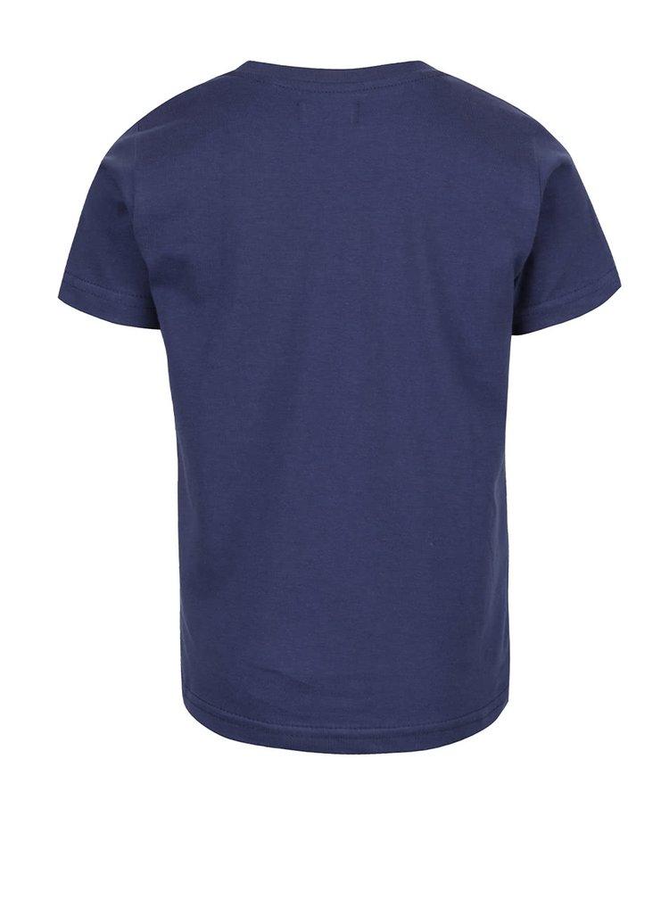Tricou albastru închis Blue Seven din bumbac cu print