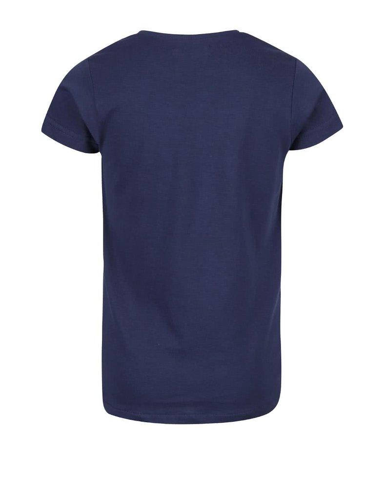 Tmavě modré holčičí tričko s potiskem Blue Seven