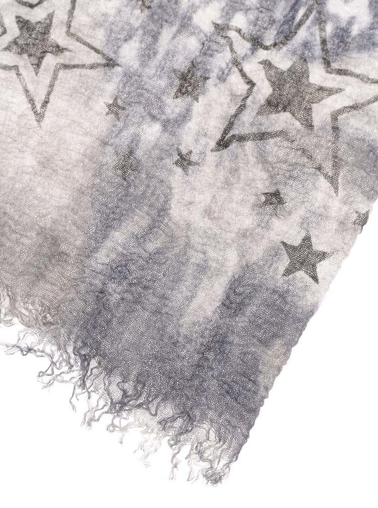 Esarfa albastra Haily´s Estefania cu imprimeu stele