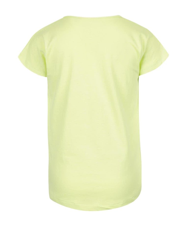 Tricou galben Blue Seven din bumbac cu print pentru fete