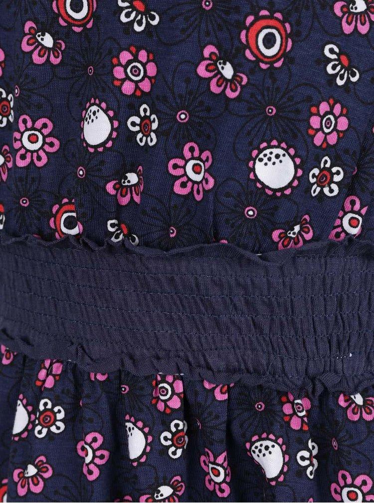 Rochie albastru închis Blue Seven din bumbac cu model floral