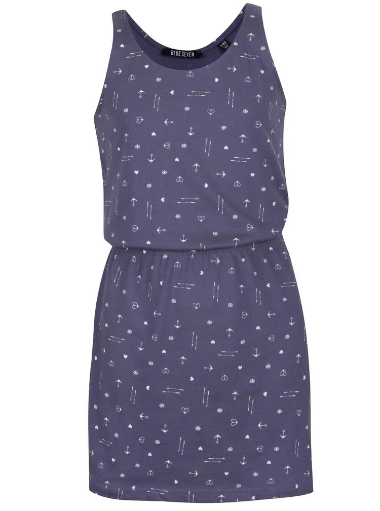 Rochie albastră cu imprimeu Blue Seven