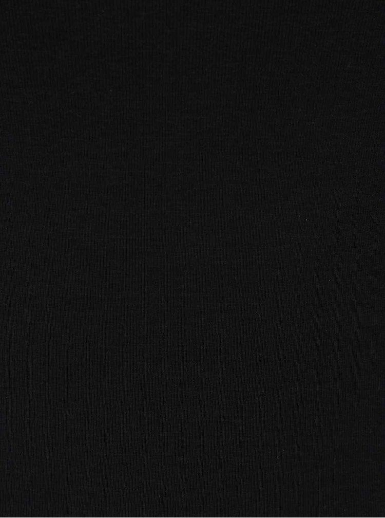 Bluza neagra Haily's Zora cu maneci 3/4
