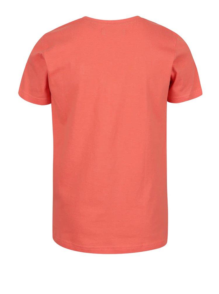 Tricou portocaliu Blue Seven din bumbac cu print