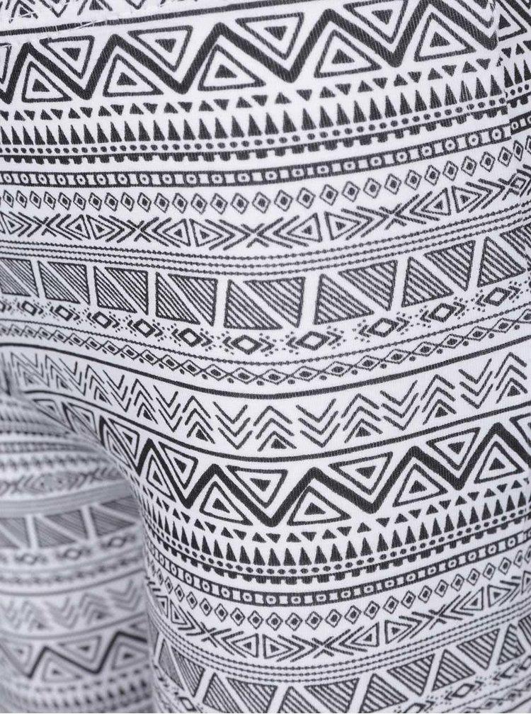 Černo-bílé holčičí vzorované 3/4 legíny Blue Seven