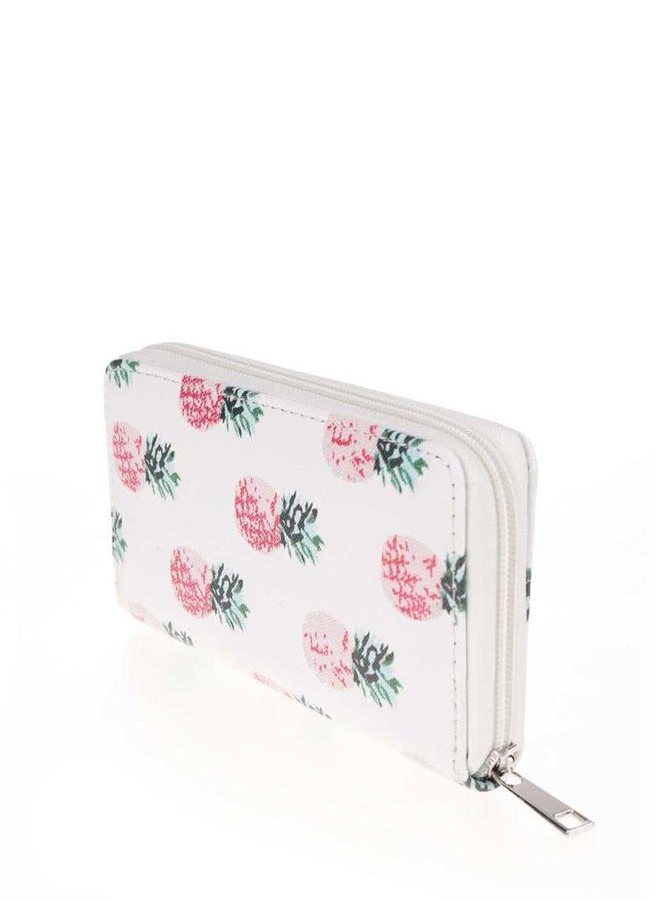 Bílá peněženka s motivem ananasů Haily´s Nika