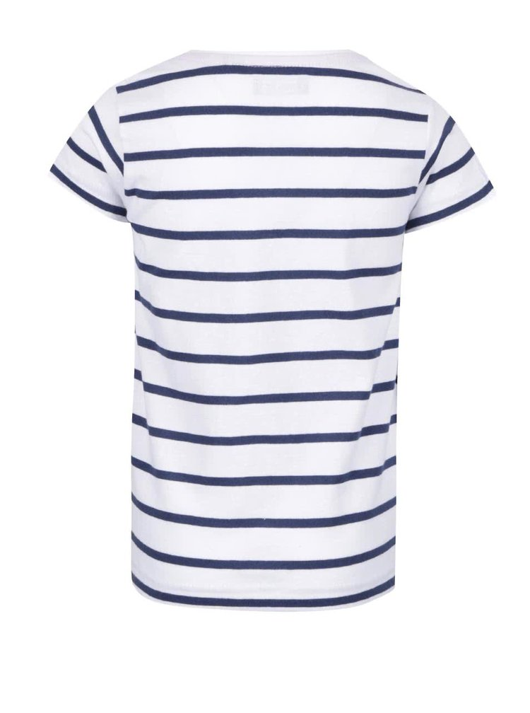 Modro-bílé pruhované holčičí tričko s potiskem Blue Seven