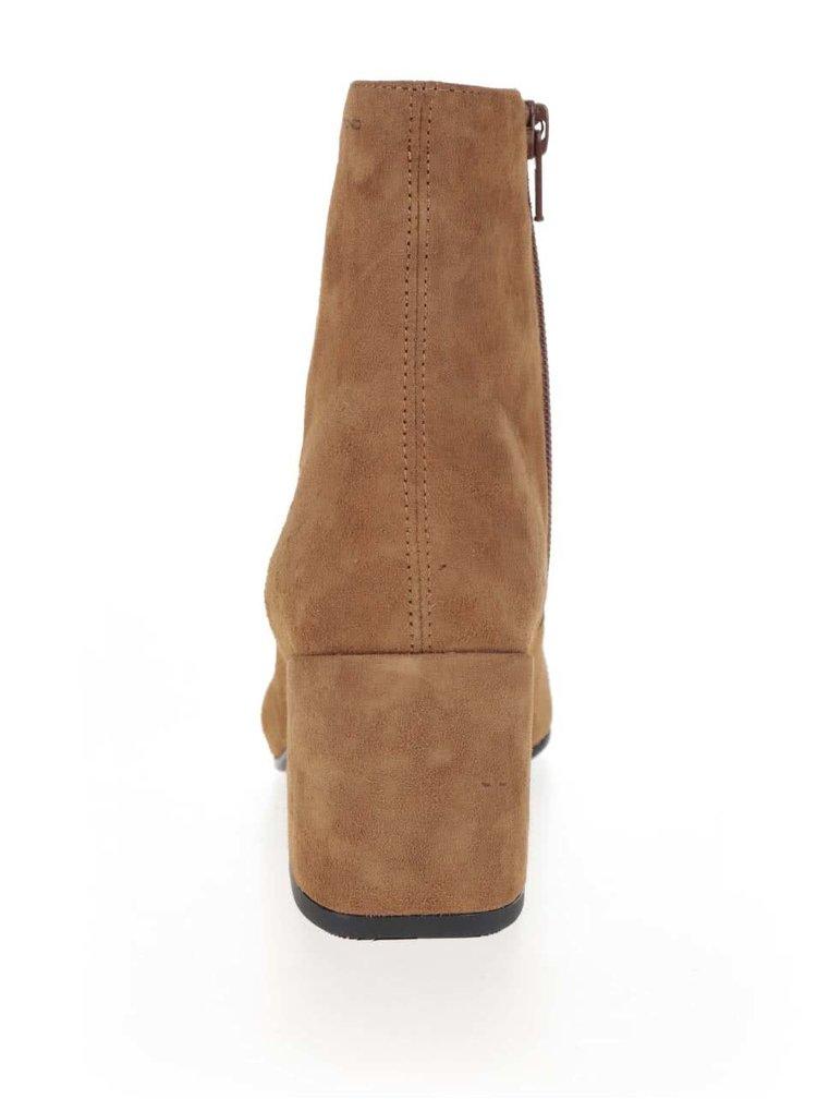 Hnědé dámské semišové kotníkové boty Vagabond Olivia
