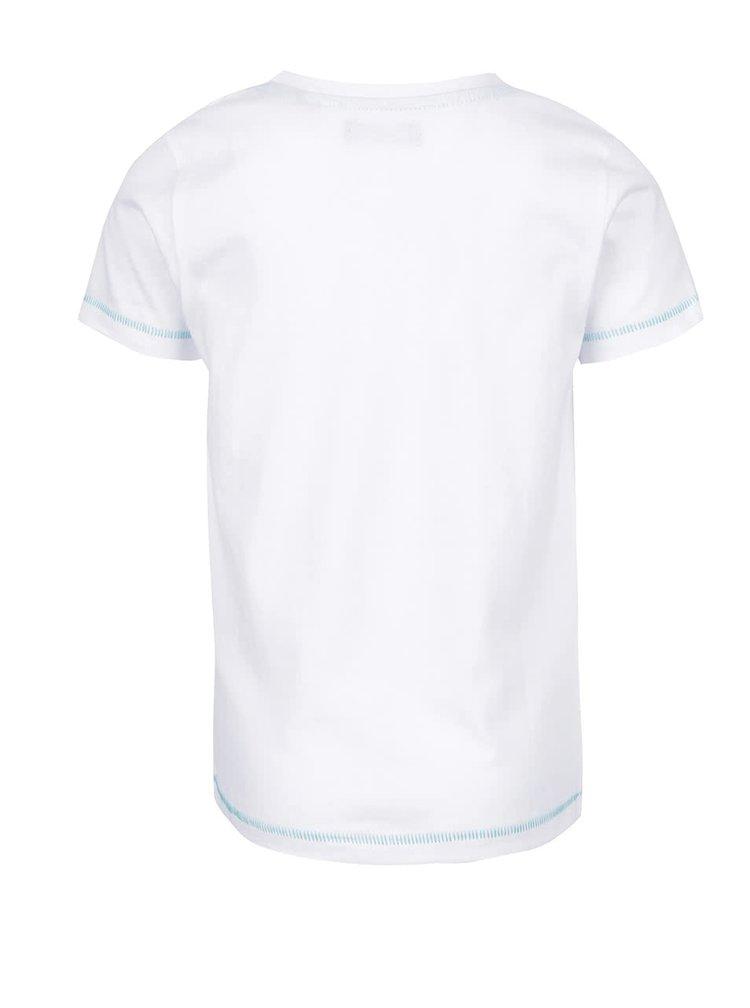 Tricou alb Blue Seven din bumbac cu print pentru băieți