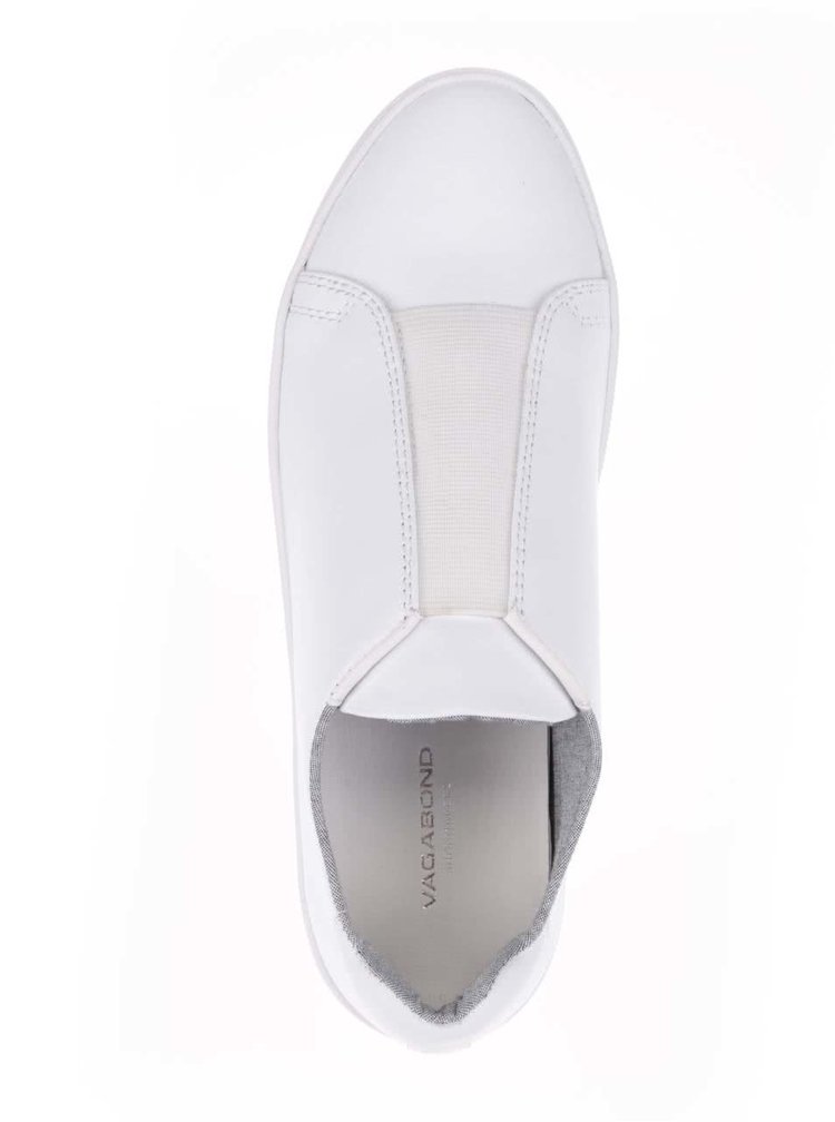 Bílé dámské tenisky s gumovou vsadkou Vagabond Zoe