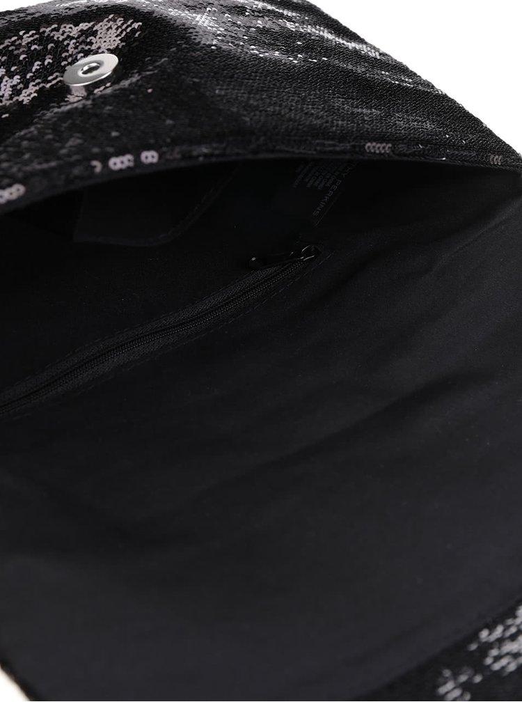 Geanta plic neagra cu paiete Dorothy Perkins