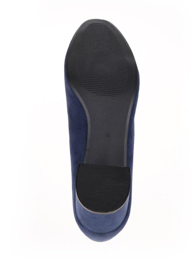 Pantofi albaștri Dorothy Perkins cu aspect de piele întoarsă