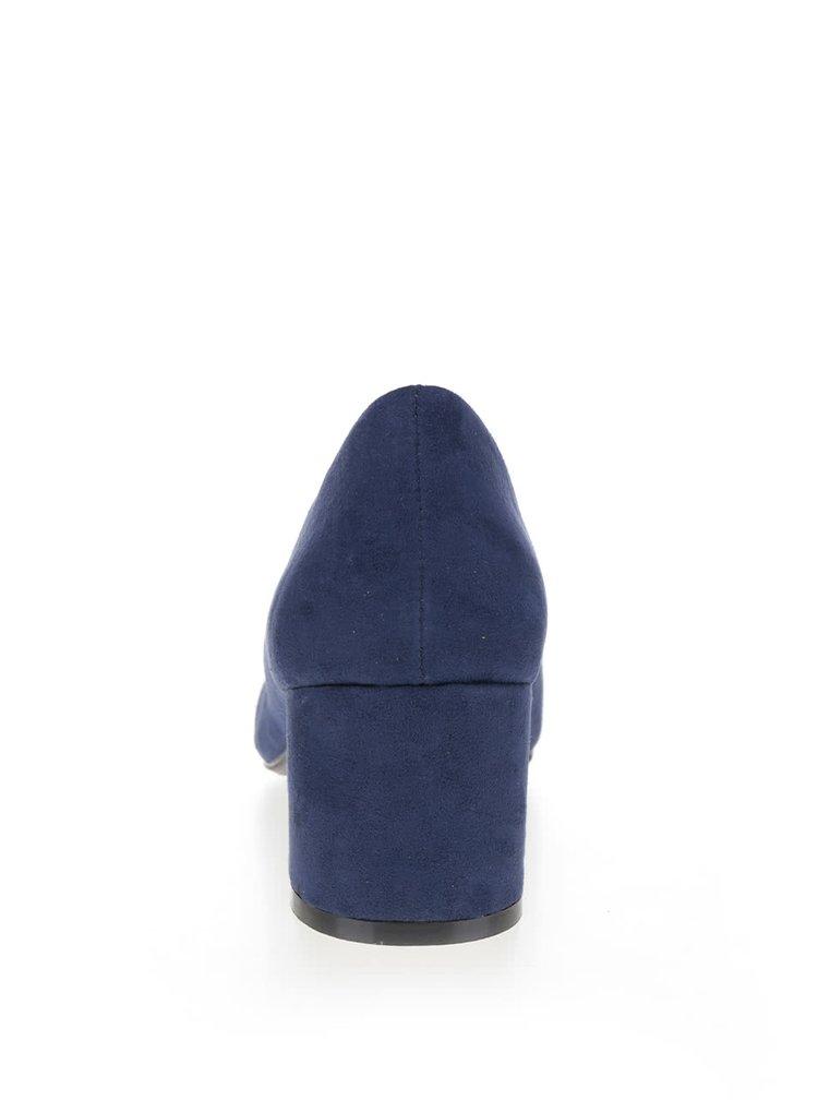 Tmavě modré lodičky v semišové úpravě Dorothy Perkins