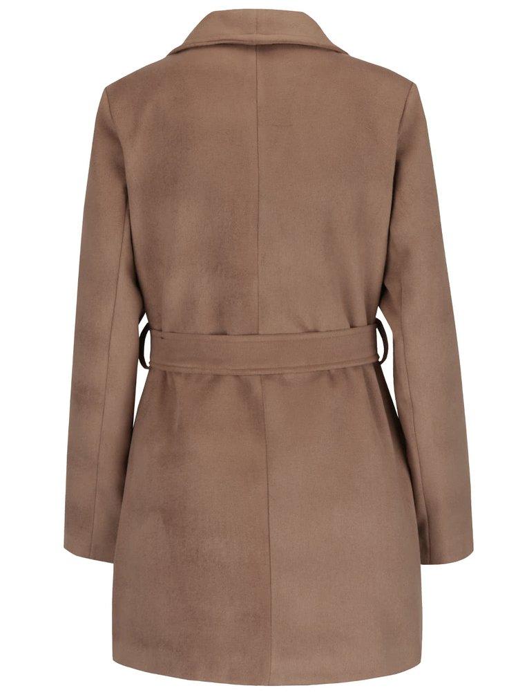 Světle hnědý kabát se zavazováním v pase ZOOT
