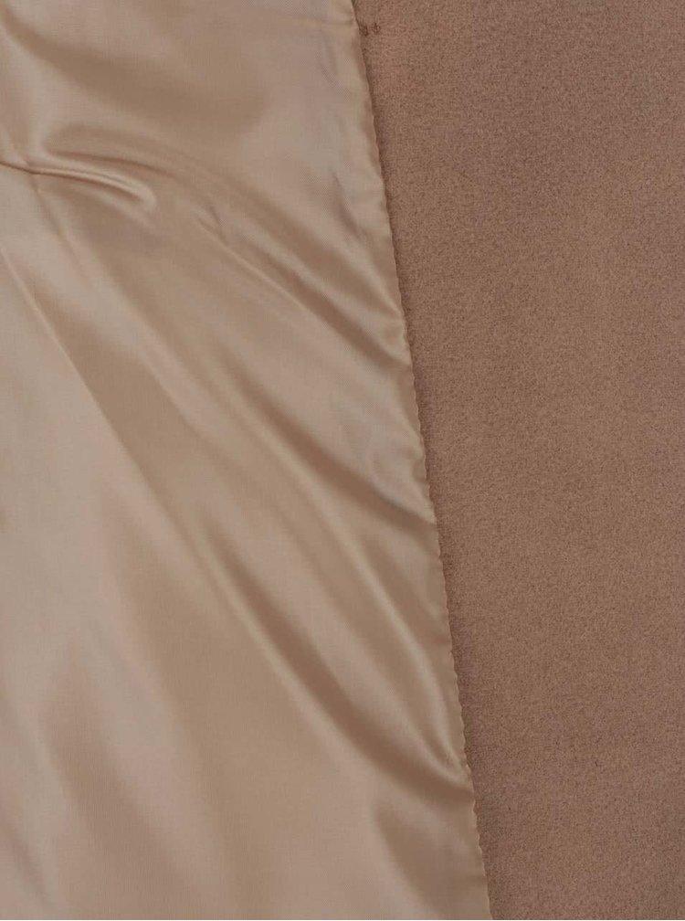 Palton camel ZOOT cu guler înalt