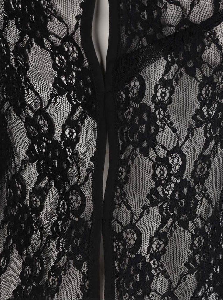 Černé krajkové pyžamové tílko Y.A.S  Lara