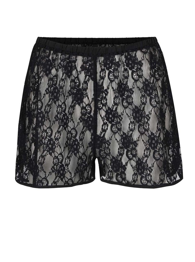 Černé krajkové pyžamové kraťasy Y.A.S  Lara