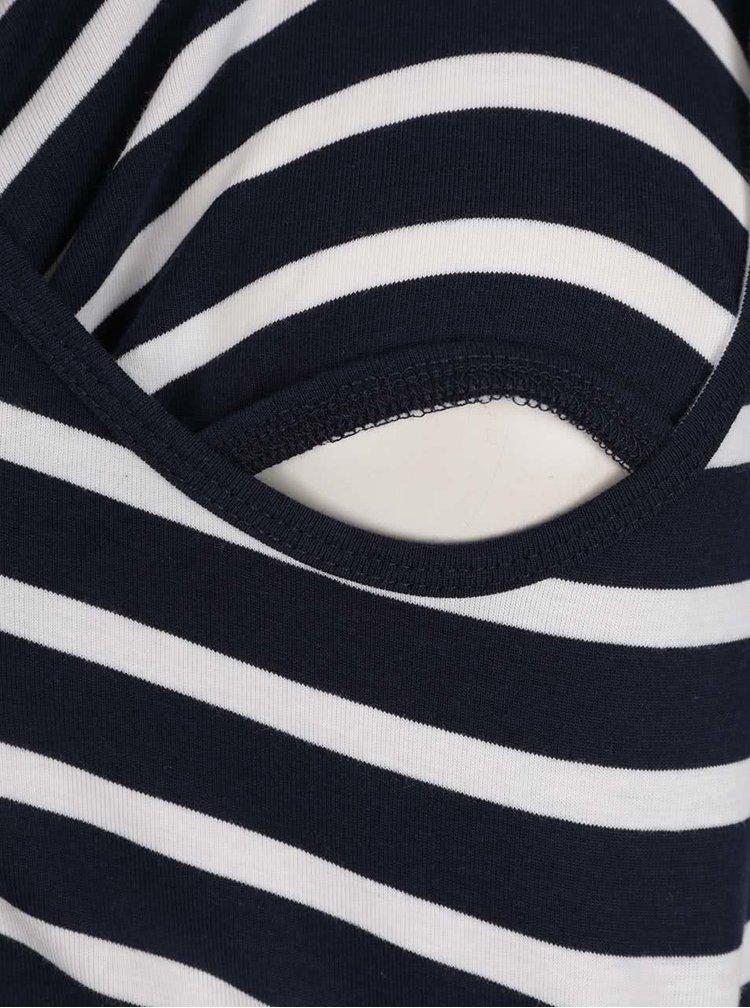 Sada dvou těhotenských/kojicích tílek v bílo-šedé a bílo-modré barvě Mama.licious Lea