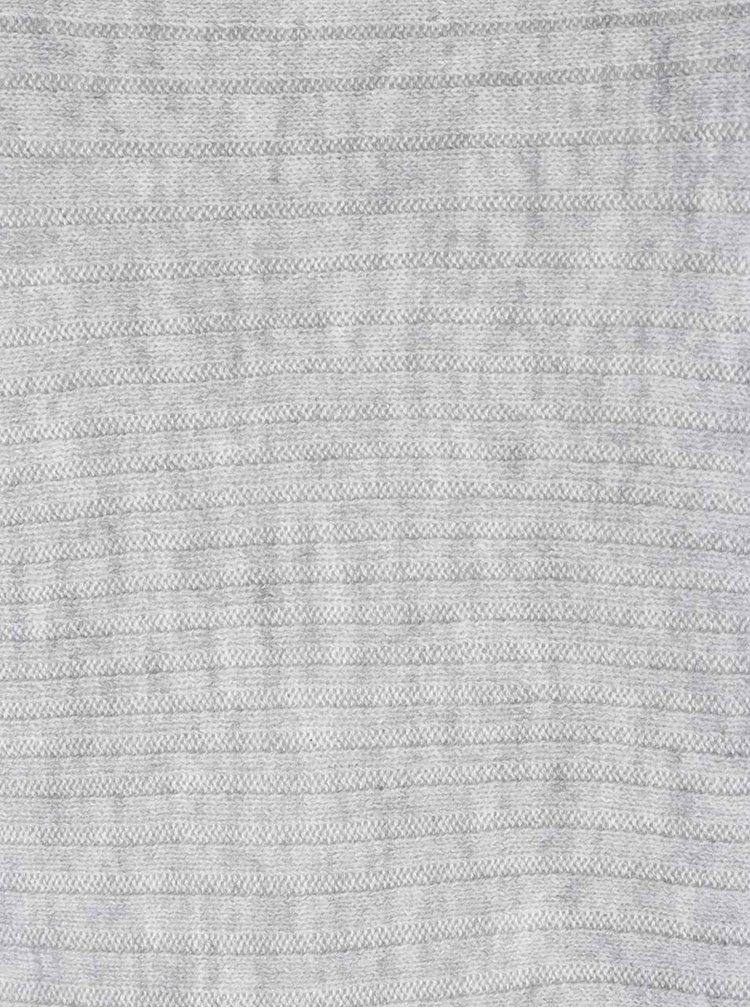 Světle šedý svetr s netopýřími rukávy Dorothy Perkins Curve