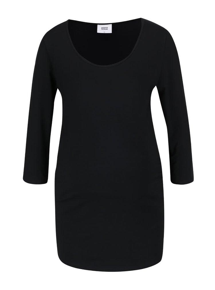 Sada dvou těhotenských triček v krémové a černé barvě s 3/4 rukávem Mama.licious Lea