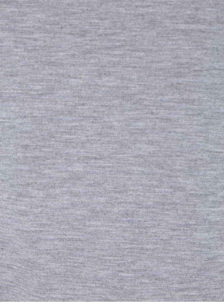 Šedé basic tričko s dlouhým rukávem Dorothy Perkins Curve