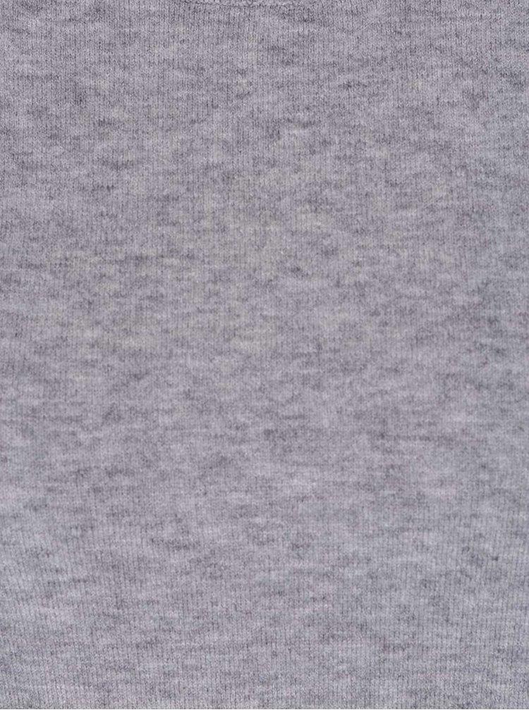 Šedý svetr s bílo-zeleným lemem Dorothy Perkins