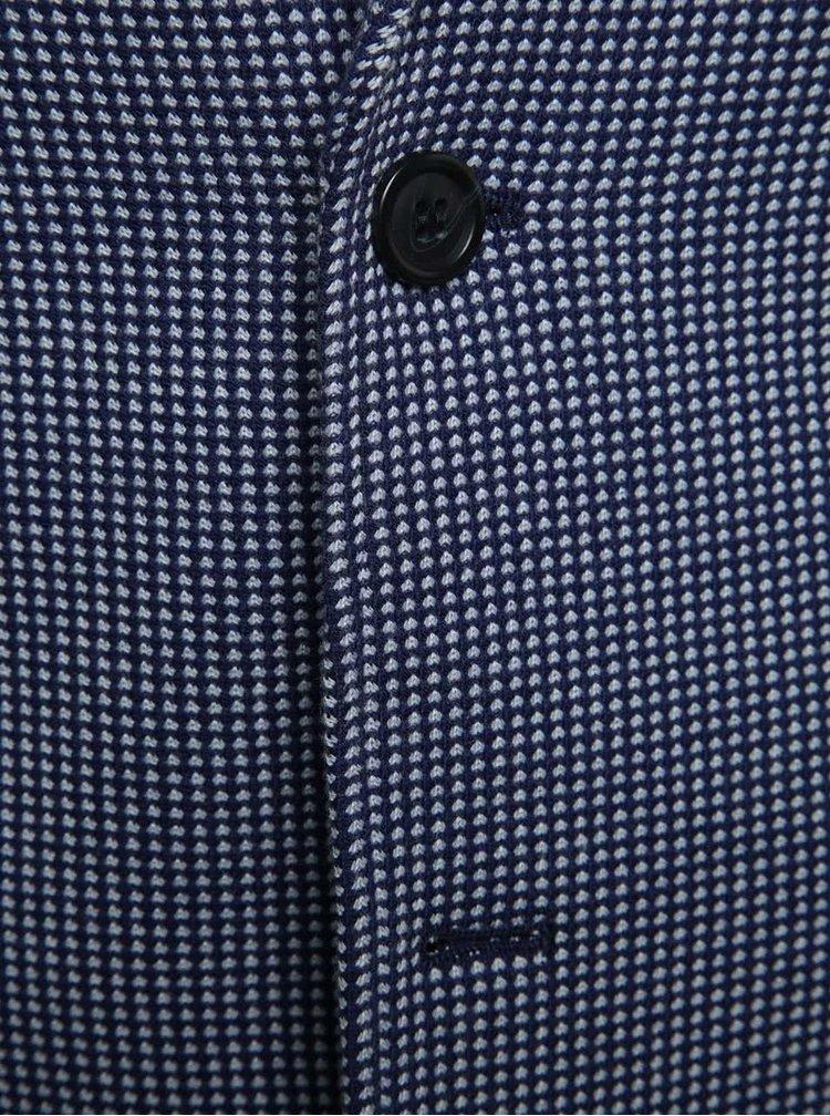 Tmavě modré vzorované sako Selected Homme Zezorich