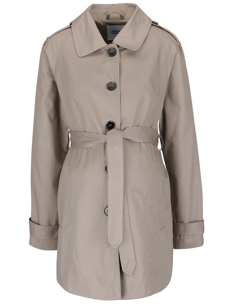 Šedohnědý těhotenský kabát Mama.licious Pathy