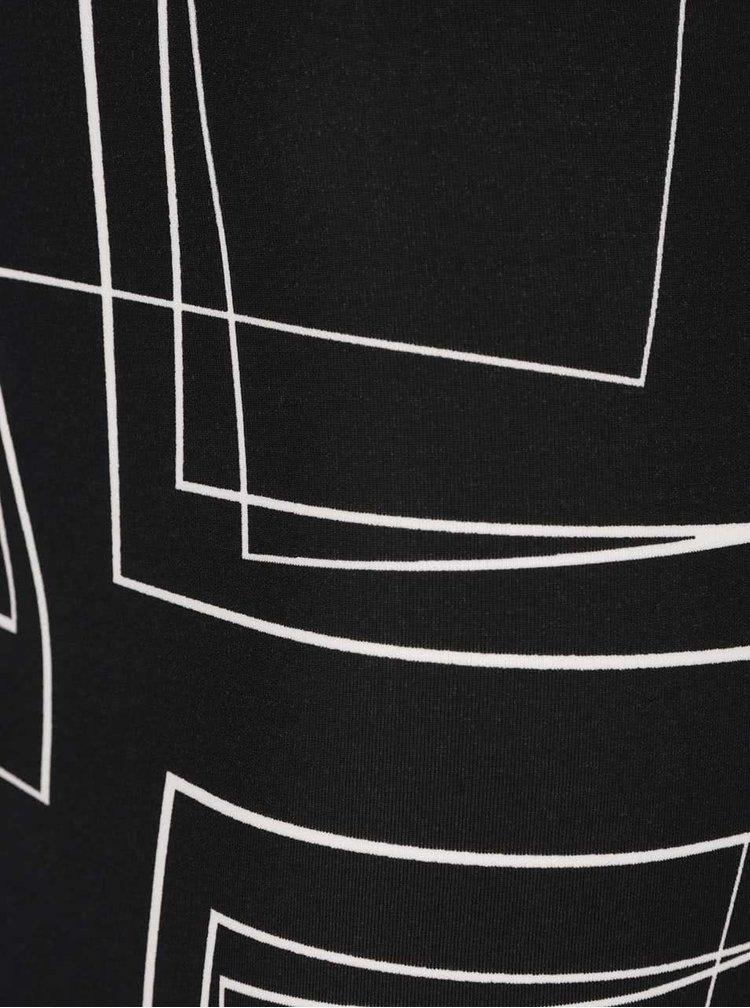 Fustă midi neagră Dorothy Perkins cu imprimeu grafic