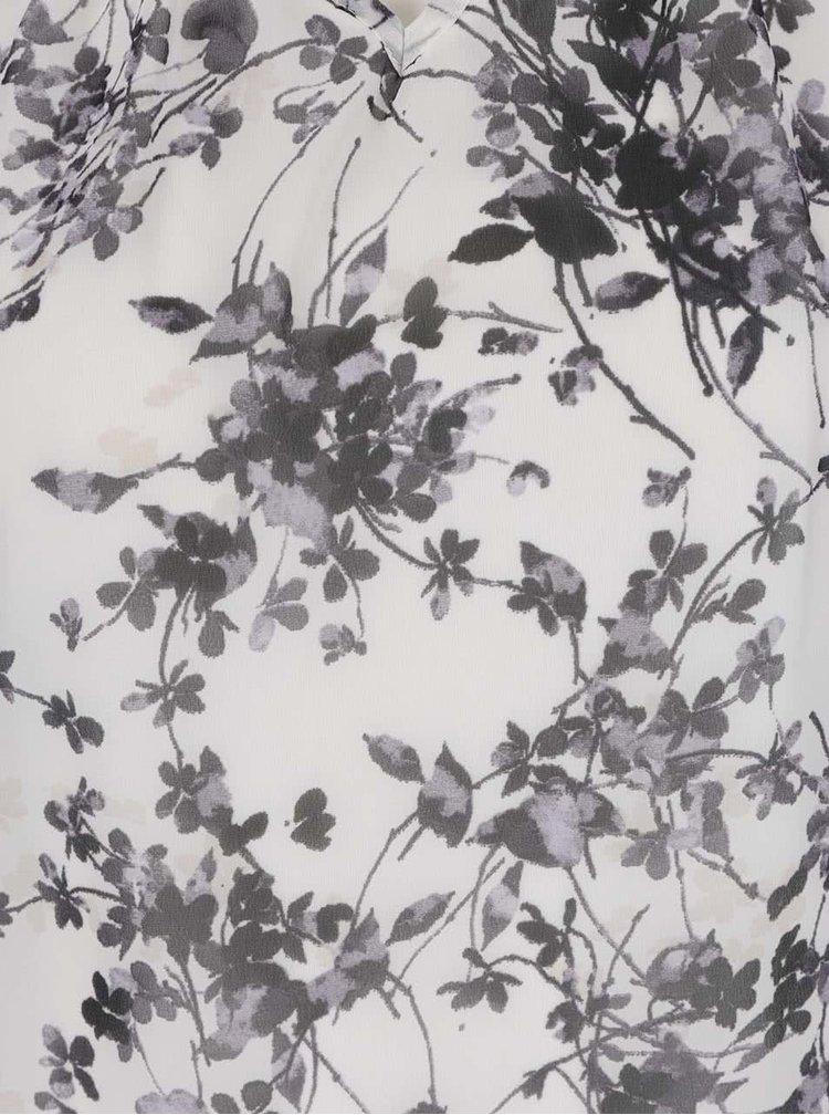 Bluza crem&gri Billie & Blossom cu imprimeu