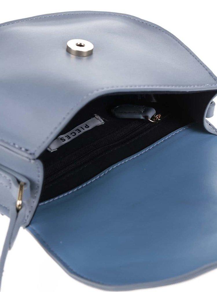 Světle modrá malá crossbody kabelka Pieces Aluna
