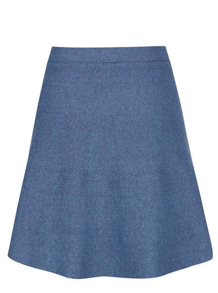 Modrá sukně s jemným vzorem VILA Olympa