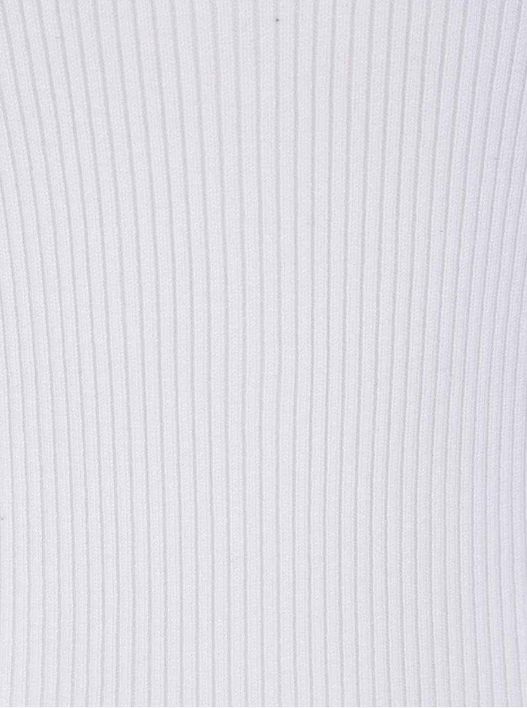 Bílý svetr se šněrováním v dekoltu ONLY Josephina