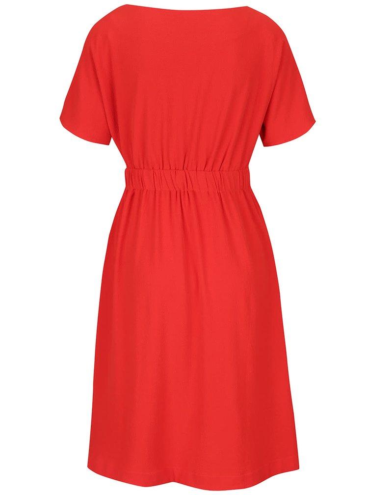 Červené šaty s kapsami VILA Calt