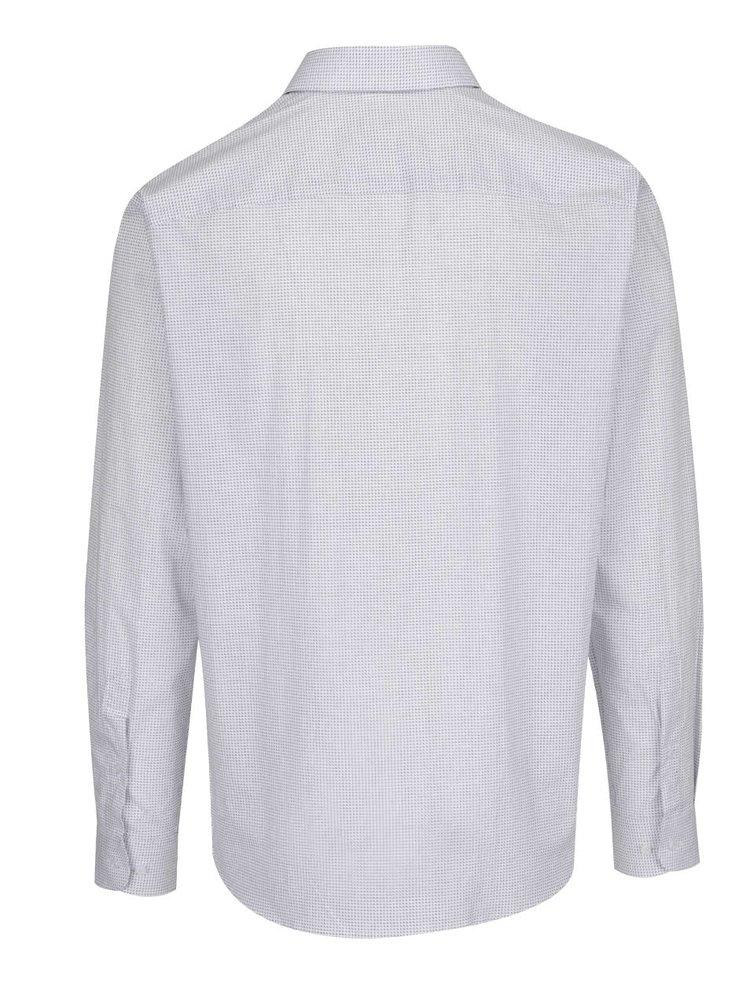 Krémová vzorovaná košile Selected Homme Nepen Mosely