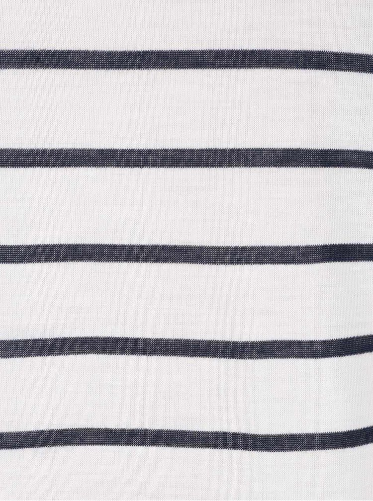 Krémové tričko s modrými pruhy ONLY New Rocco